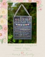 Medically Fragile Door Sign by Love For Everly